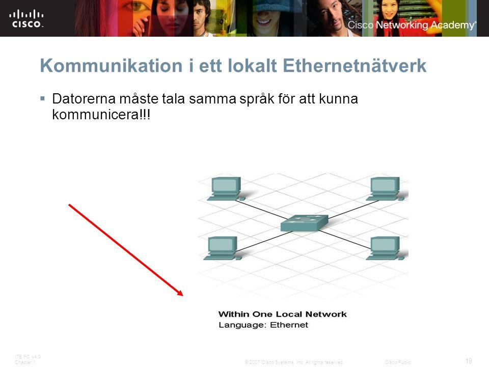 Kommunikation i ett lokalt Ethernetnätverk