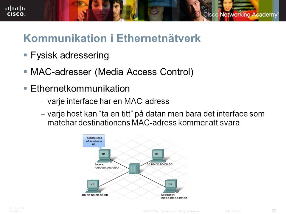 Kommunikation i Ethernetnätverk