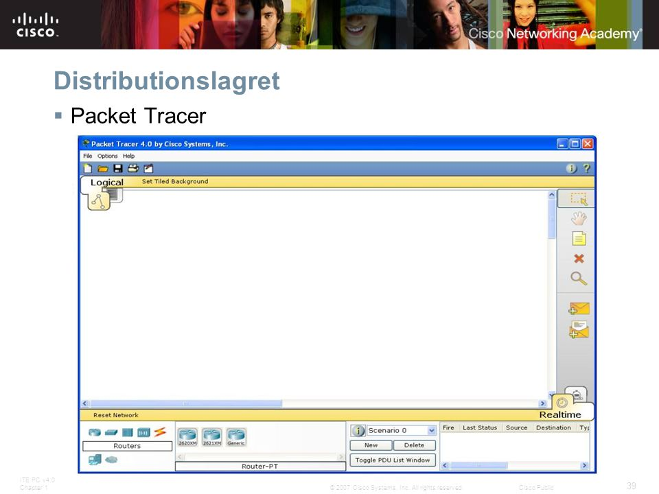 Distributionslagret Packet Tracer