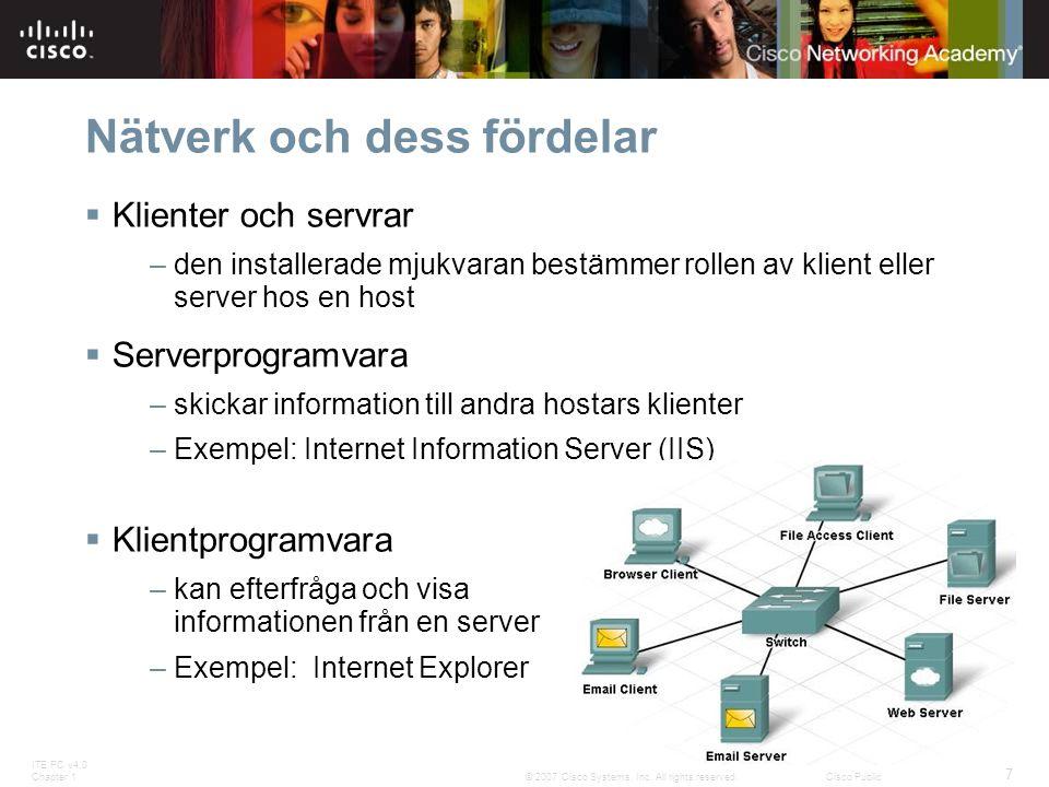 Nätverk och dess fördelar