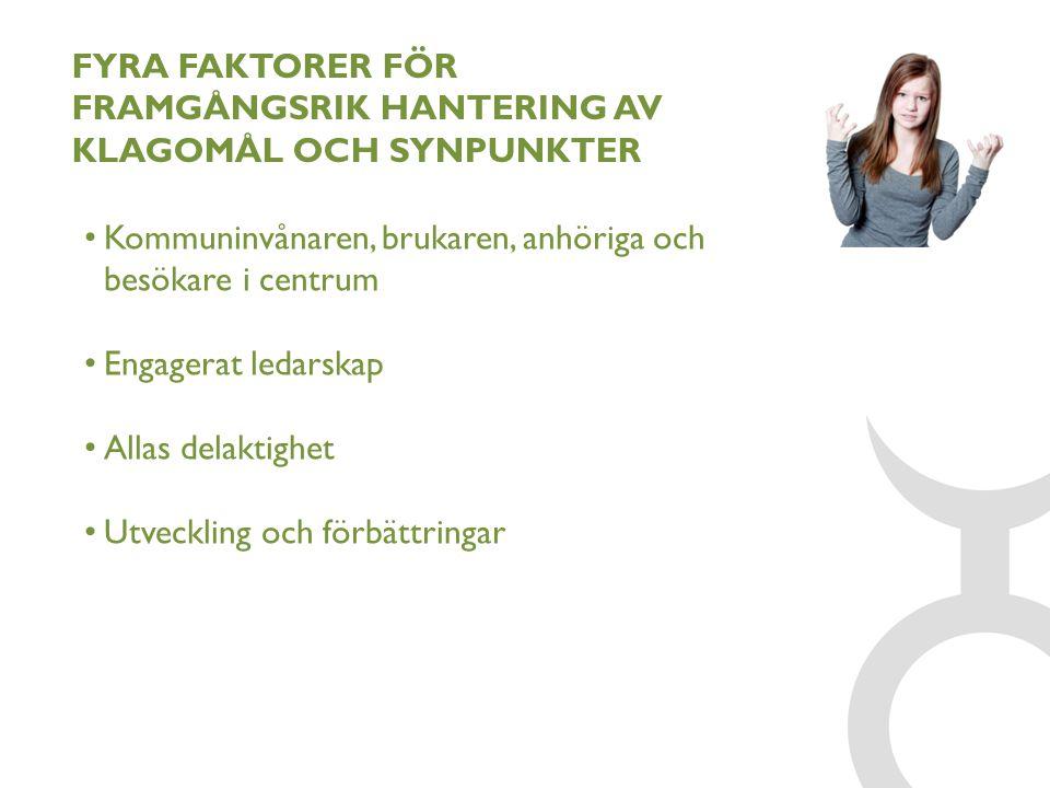FYRA FAKTORER FÖR FRAMGÅNGSRIK HANTERING AV KLAGOMÅL OCH SYNPUNKTER