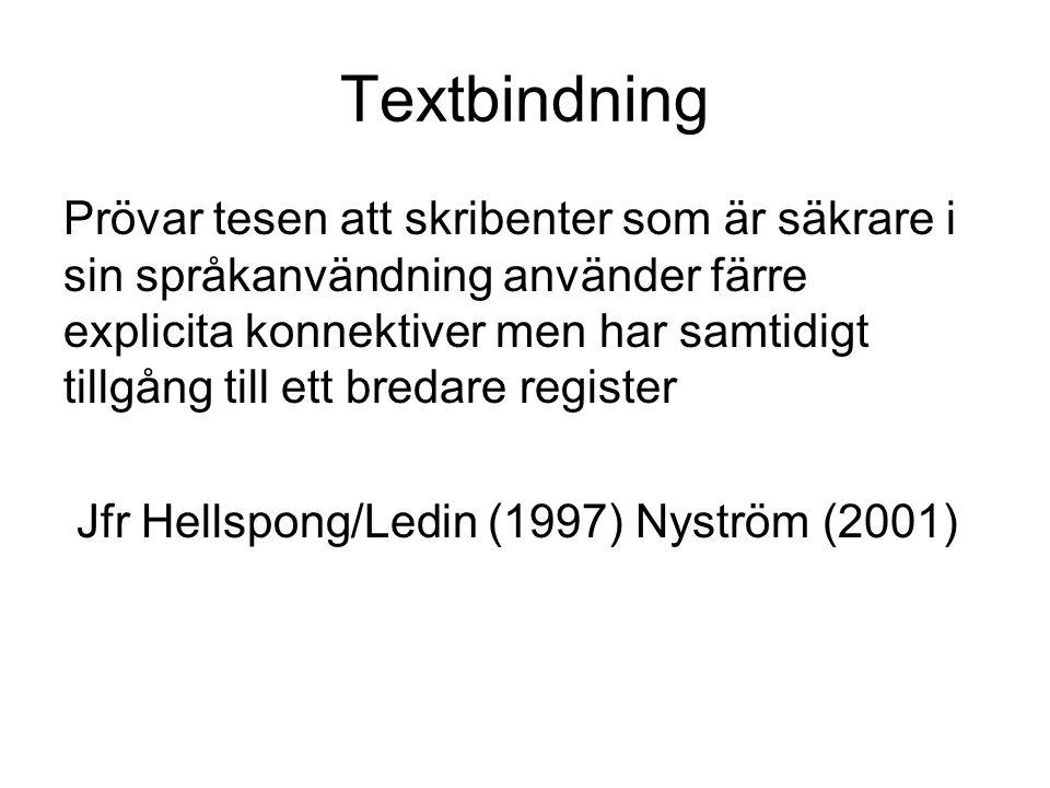 Textbindning