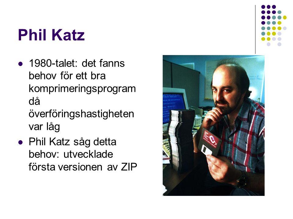 Phil Katz 1980-talet: det fanns behov för ett bra komprimeringsprogram då överföringshastigheten var låg.
