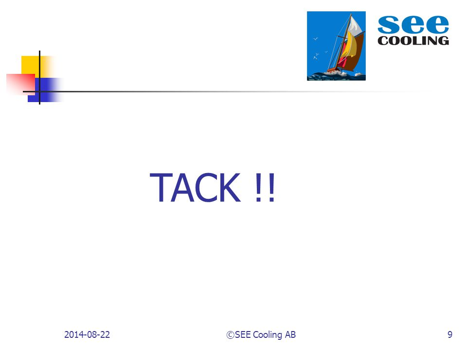 TACK !! 2017-04-06 ©SEE Cooling AB