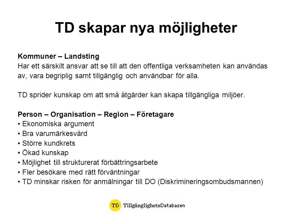 TD skapar nya möjligheter