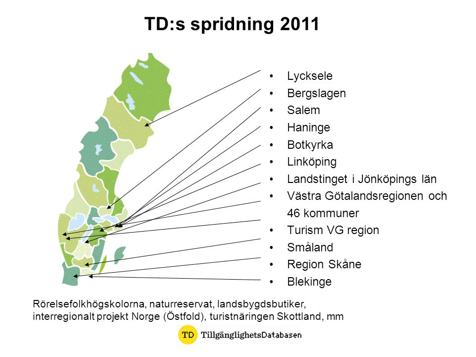 TD:s spridning 2011 Lycksele Bergslagen Salem Haninge Botkyrka