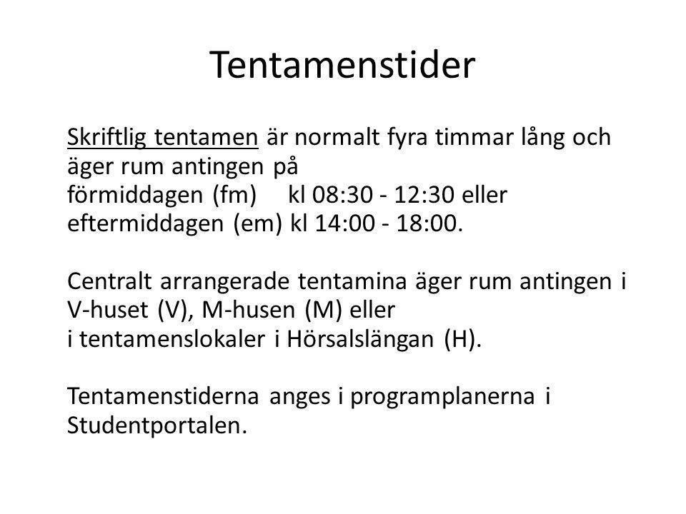 Tentamenstider