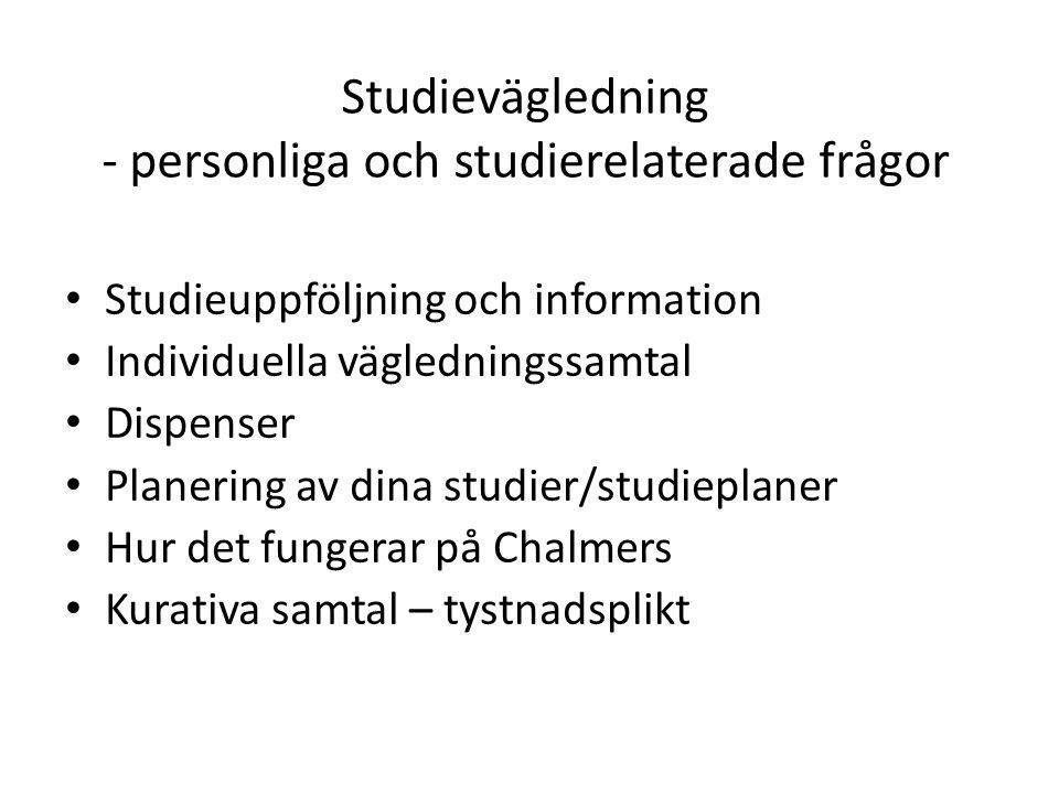 Studievägledning - personliga och studierelaterade frågor