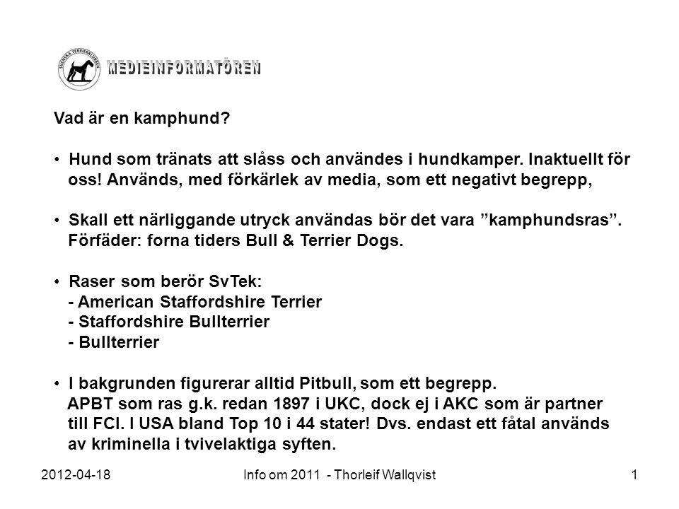 Info om 2011 - Thorleif Wallqvist