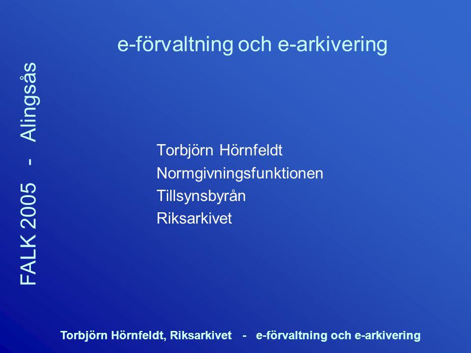 e-förvaltning och e-arkivering