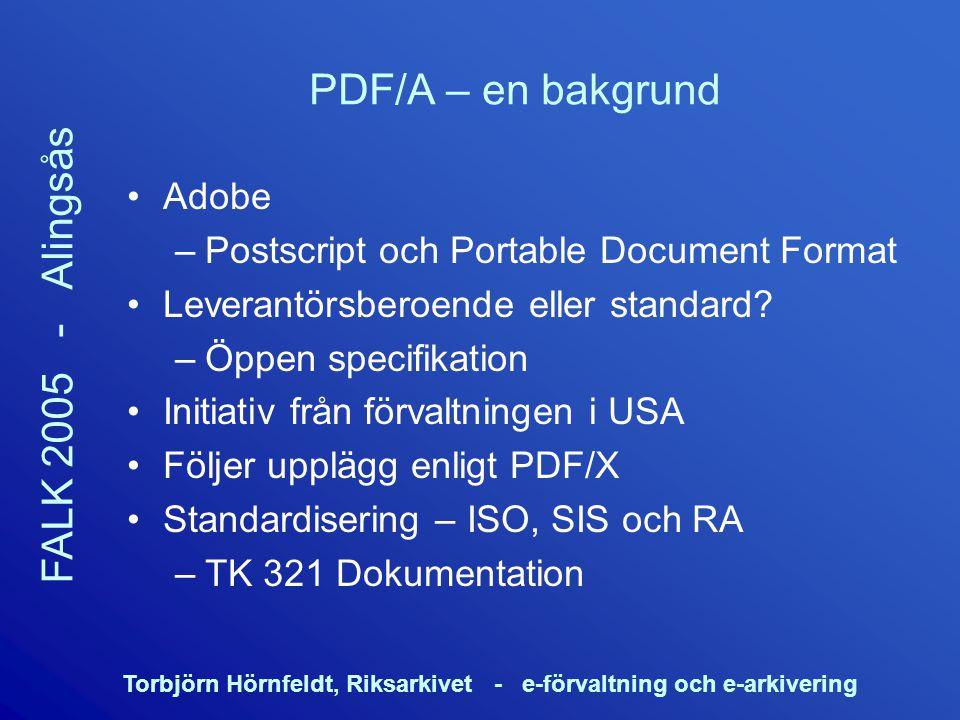 PDF/A – en bakgrund Adobe Postscript och Portable Document Format