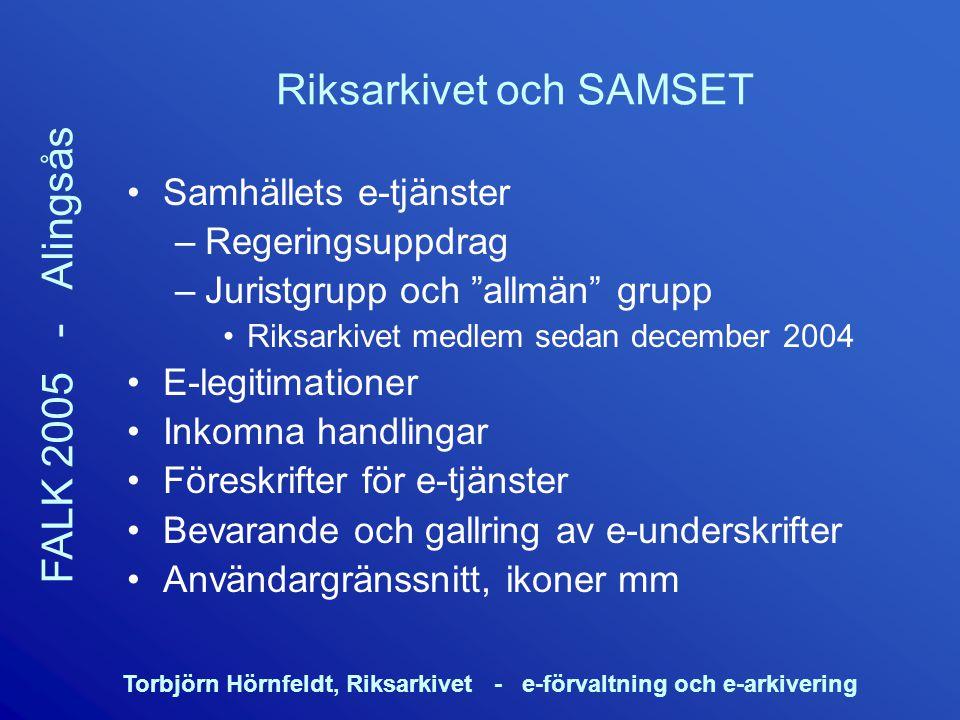 Riksarkivet och SAMSET