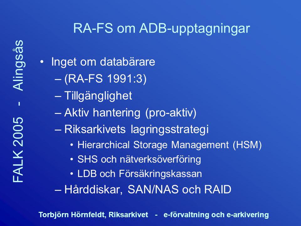RA-FS om ADB-upptagningar