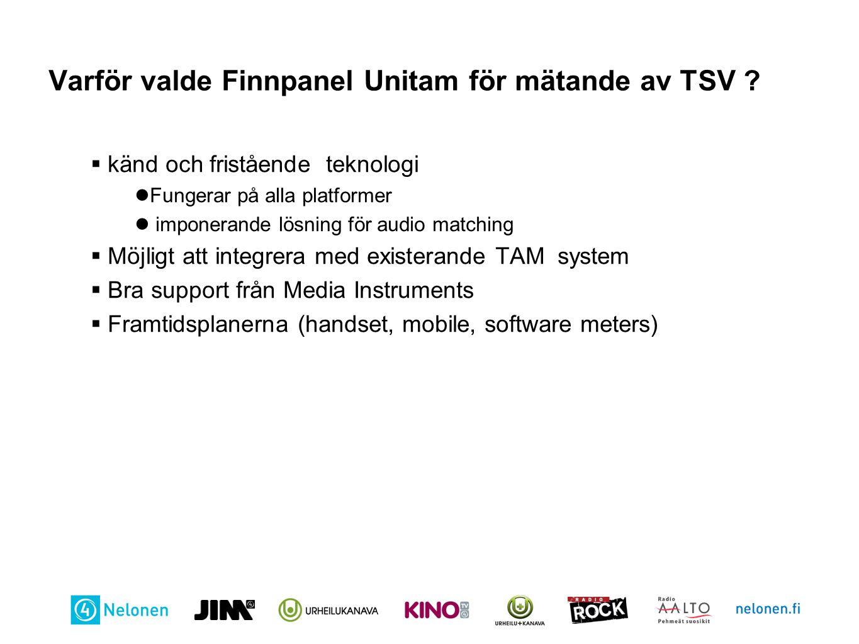 Varför valde Finnpanel Unitam för mätande av TSV