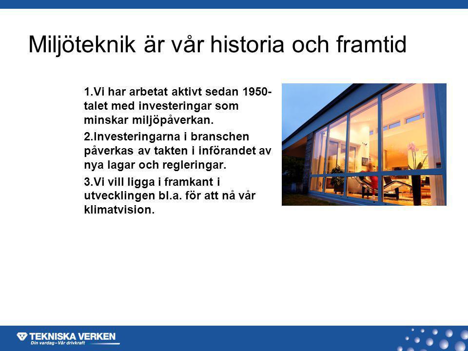 Miljöteknik är vår historia och framtid