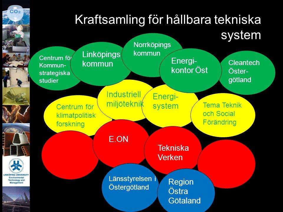 Kraftsamling för hållbara tekniska system