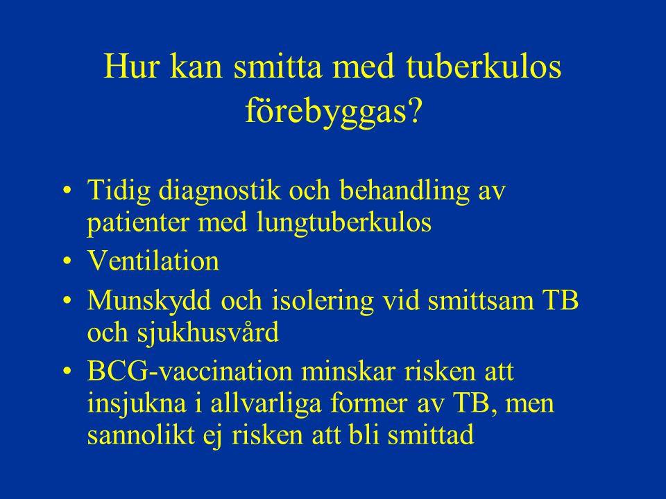 Hur kan smitta med tuberkulos förebyggas