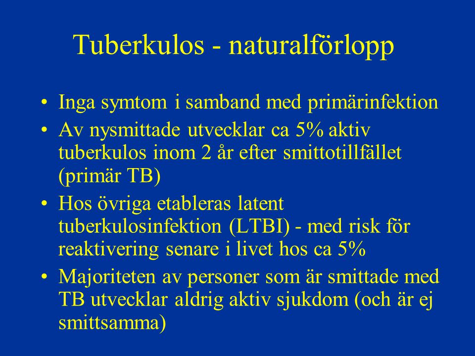 Tuberkulos - naturalförlopp