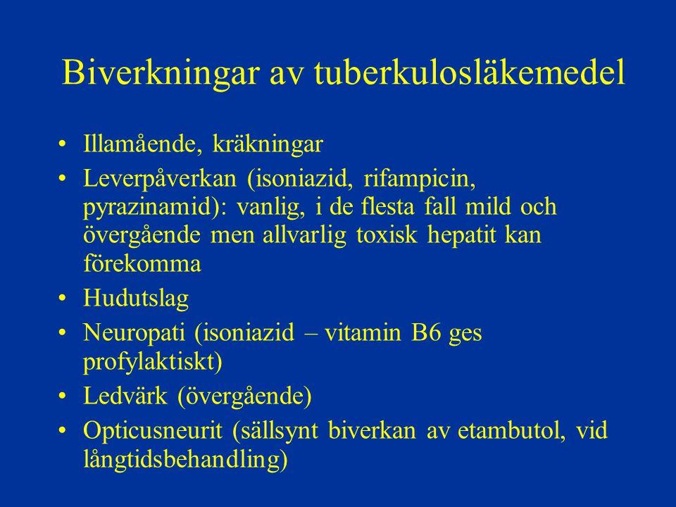 Biverkningar av tuberkulosläkemedel