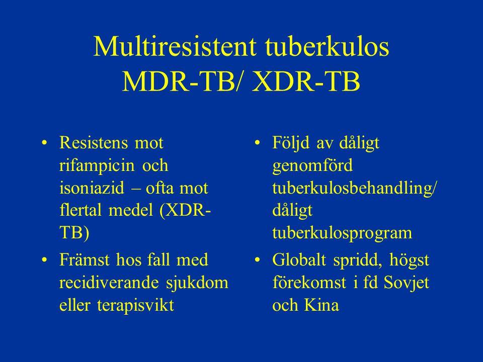 Multiresistent tuberkulos MDR-TB/ XDR-TB