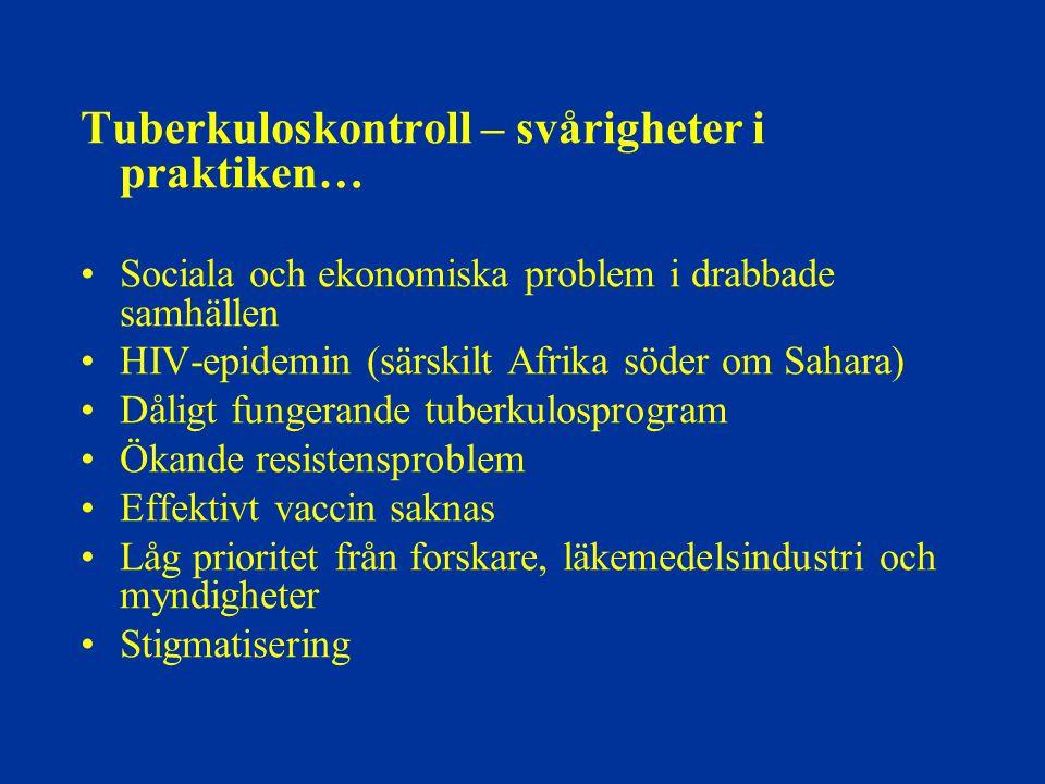 Tuberkuloskontroll – svårigheter i praktiken…