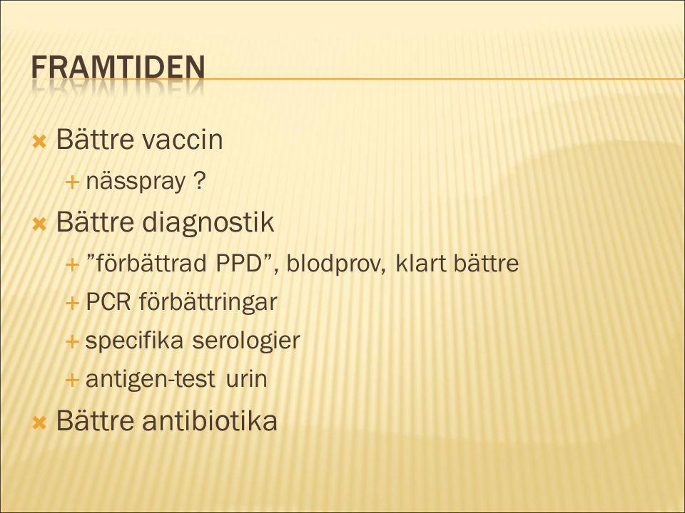 Bättre vaccin Bättre diagnostik Bättre antibiotika nässpray