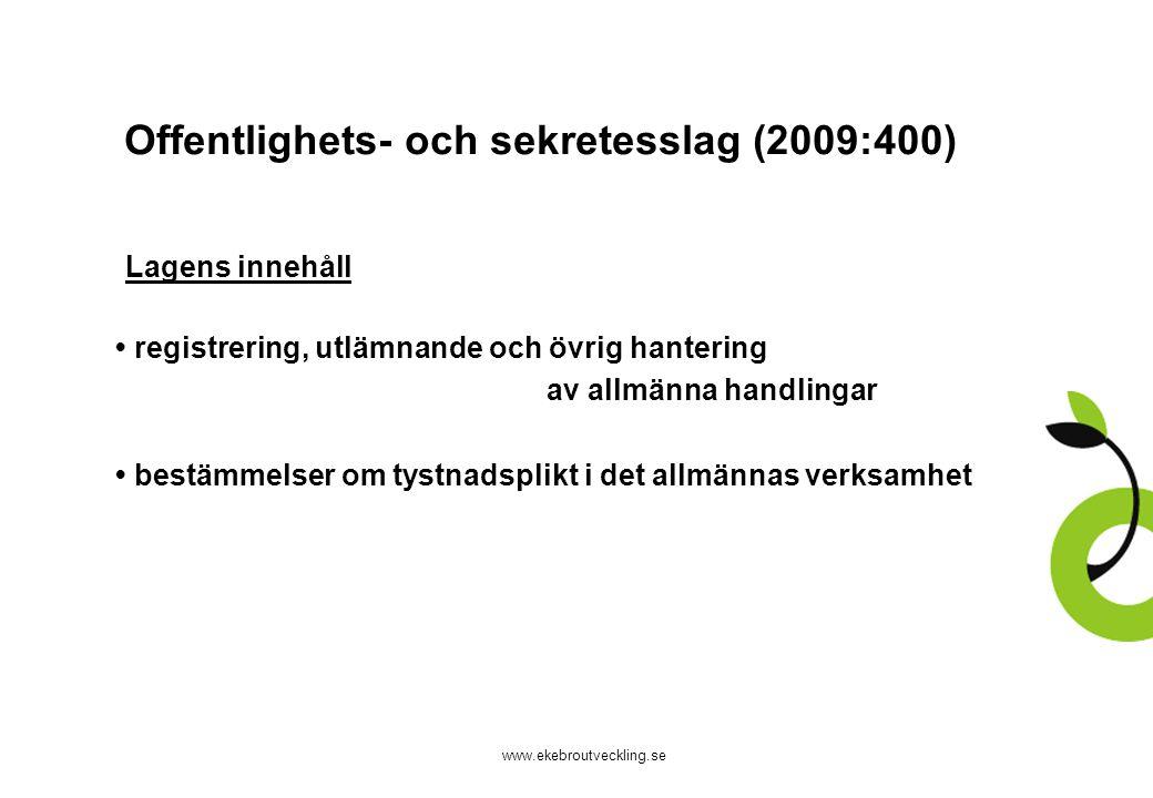 Offentlighets- och sekretesslag (2009:400)