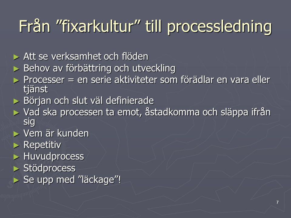 Från fixarkultur till processledning