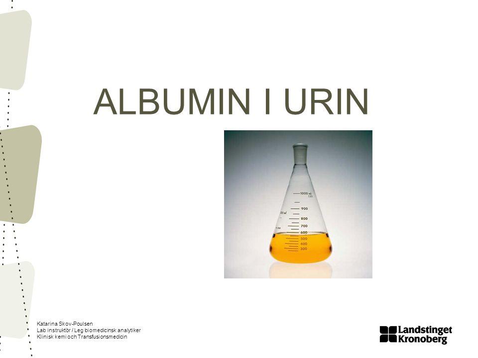 ALBUMIN I URIN