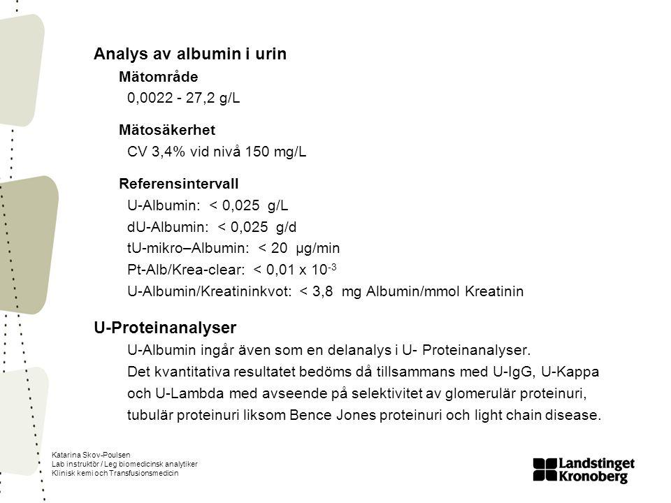 Analys av albumin i urin