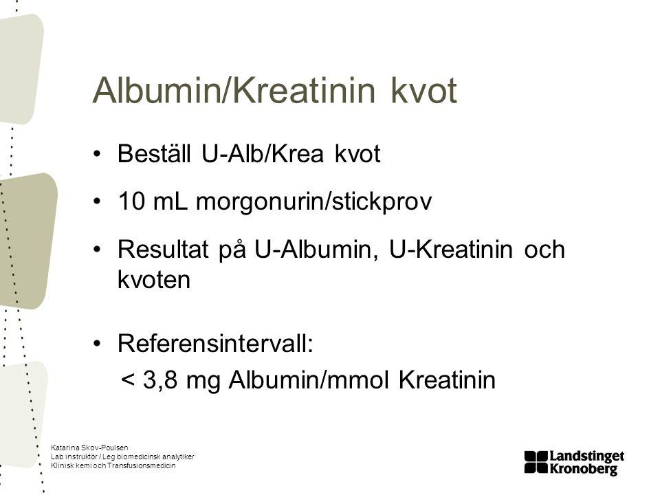 Albumin/Kreatinin kvot