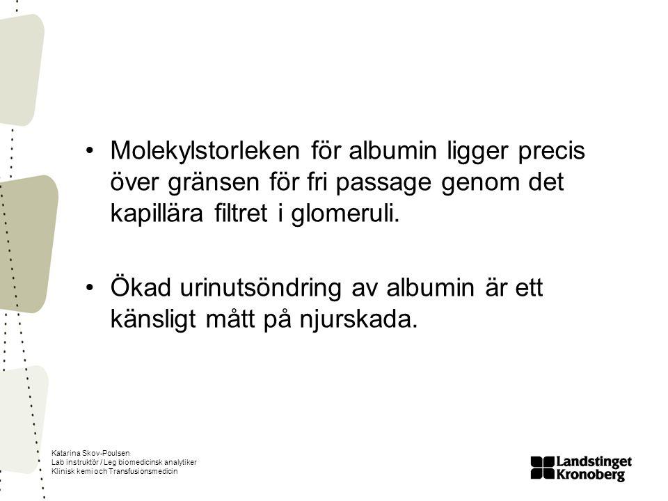 Ökad urinutsöndring av albumin är ett känsligt mått på njurskada.