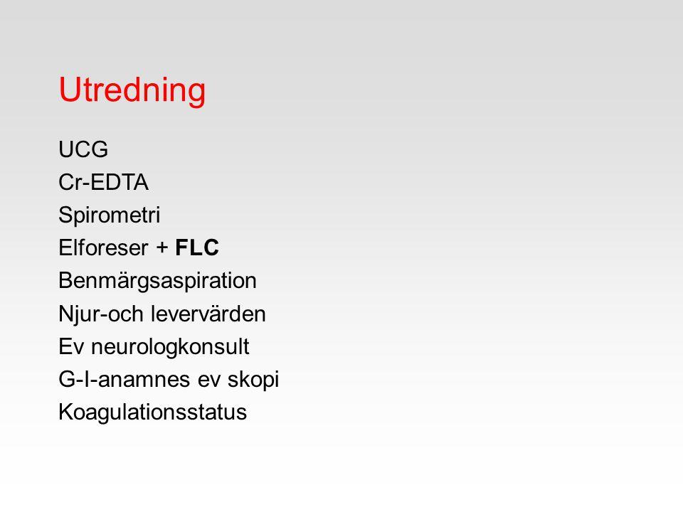 Utredning UCG Cr-EDTA Spirometri Elforeser + FLC Benmärgsaspiration