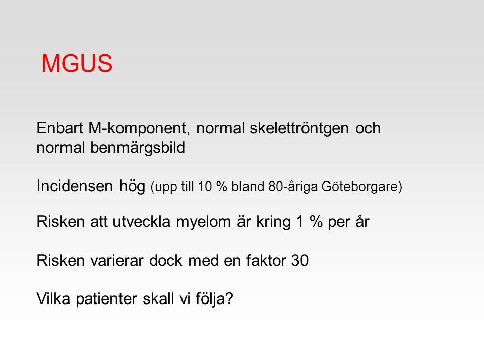 MGUS Enbart M-komponent, normal skelettröntgen och normal benmärgsbild