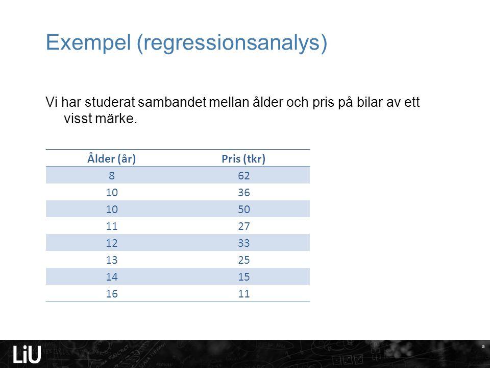 Exempel (regressionsanalys)