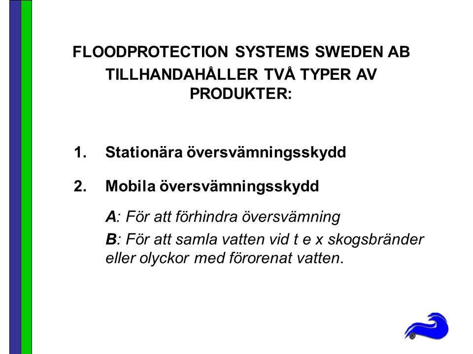 FLOODPROTECTION SYSTEMS SWEDEN AB