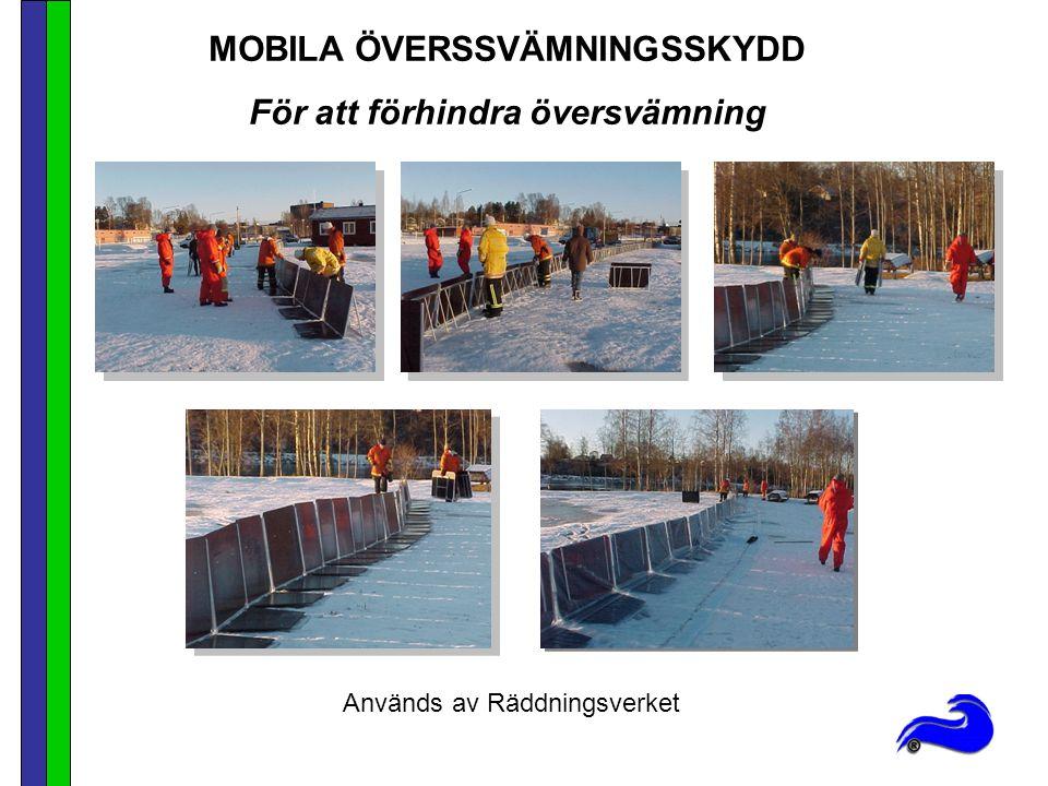 MOBILA ÖVERSSVÄMNINGSSKYDD För att förhindra översvämning
