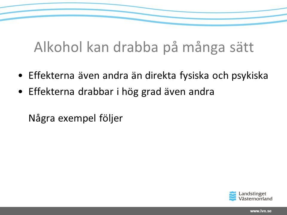 Alkohol kan drabba på många sätt