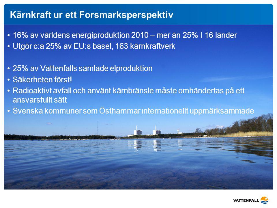 Kärnkraft ur ett Forsmarksperspektiv