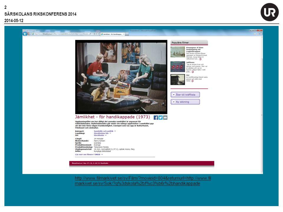 Särskolans Rikskonferens 2014 2014-05-12