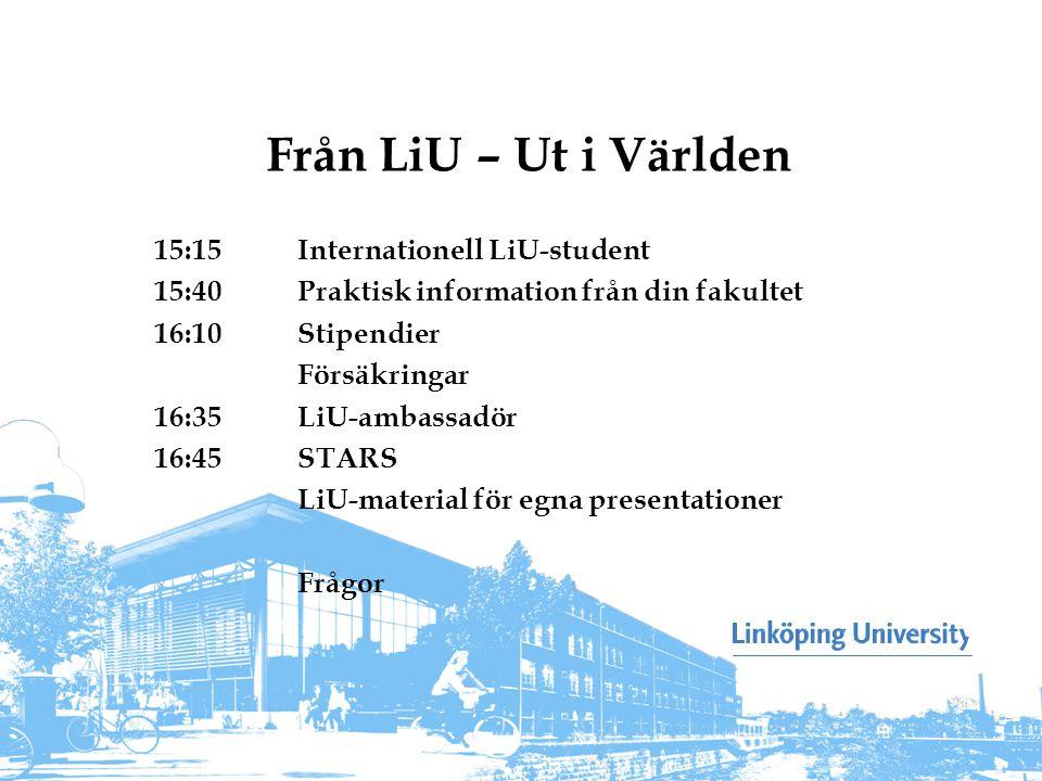 Från LiU – Ut i Världen 15:15 Internationell LiU-student