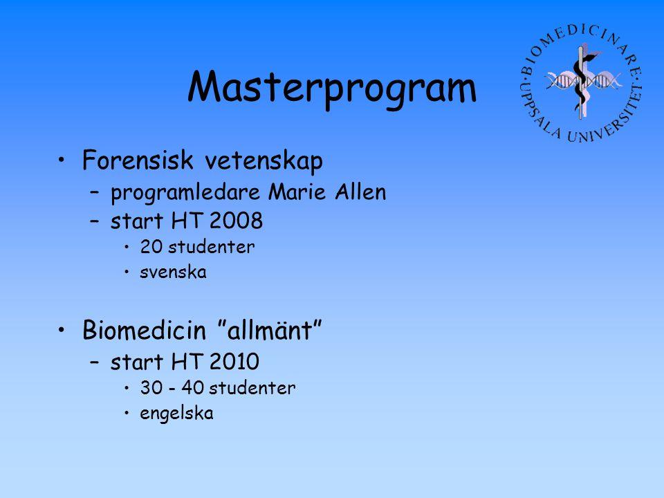 Masterprogram Forensisk vetenskap Biomedicin allmänt