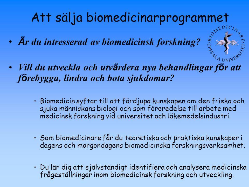 Att sälja biomedicinarprogrammet