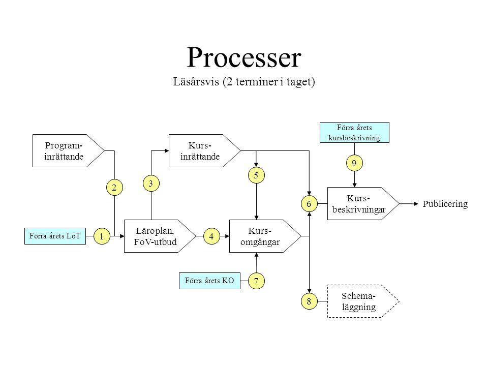 Processer Läsårsvis (2 terminer i taget)