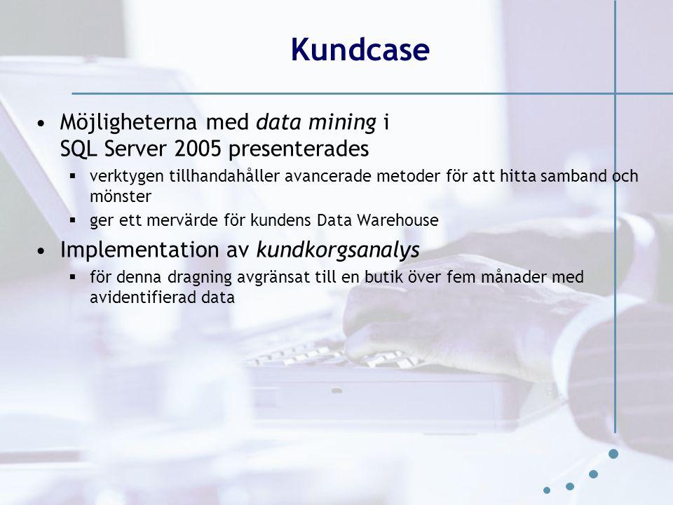 Kundcase Möjligheterna med data mining i SQL Server 2005 presenterades