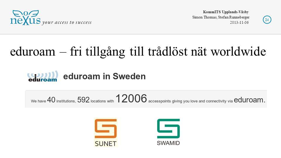 eduroam – fri tillgång till trådlöst nät worldwide