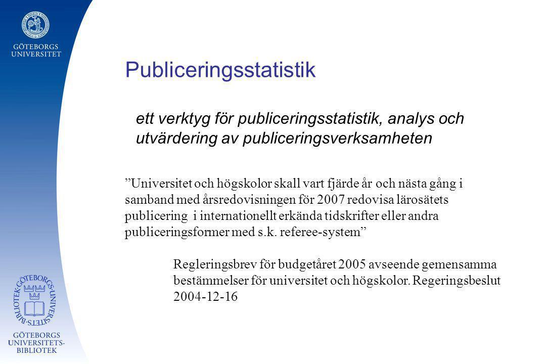 Publiceringsstatistik