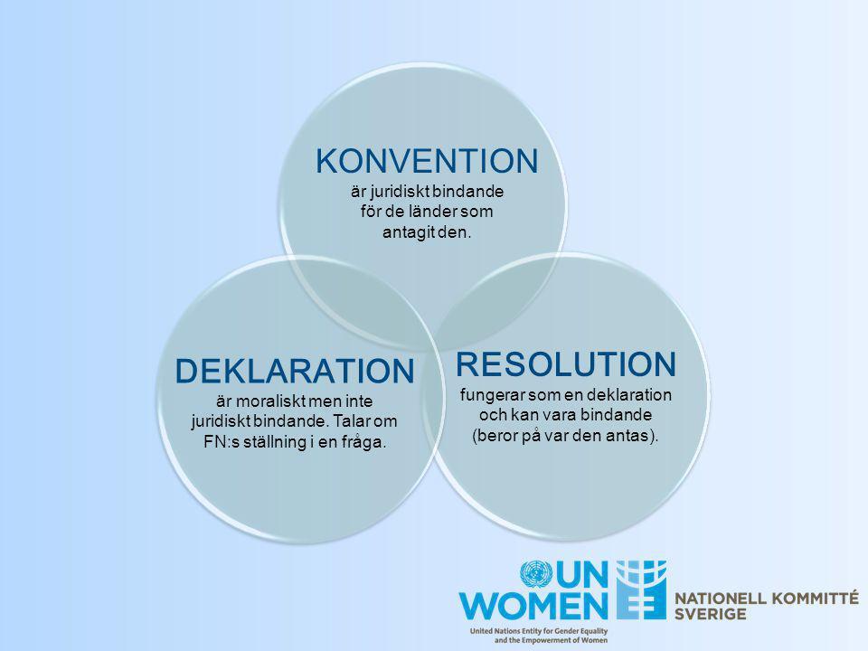 KONVENTION är juridiskt bindande för de länder som