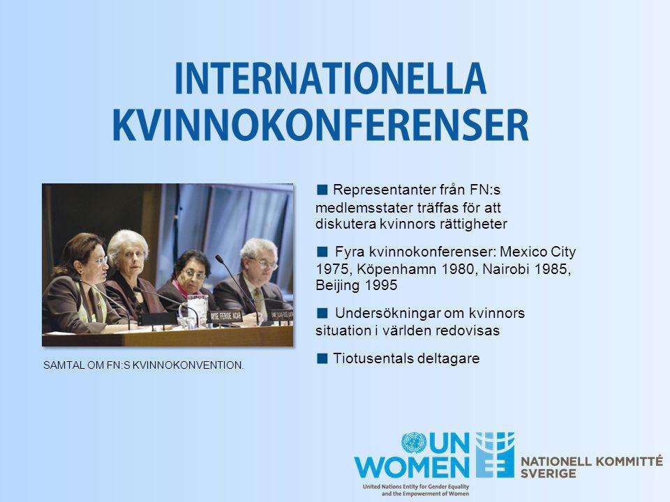 ■ Undersökningar om kvinnors situation i världen redovisas