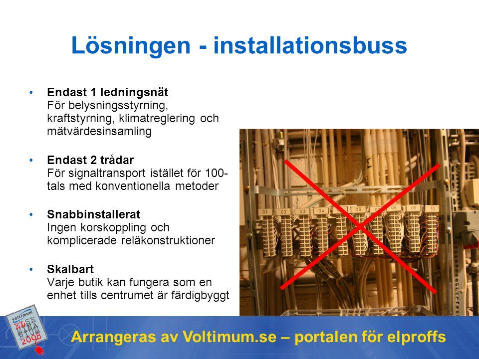 Lösningen - installationsbuss